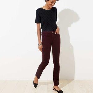 LOFT Modern Skinny corduroy fall pants Sz 12